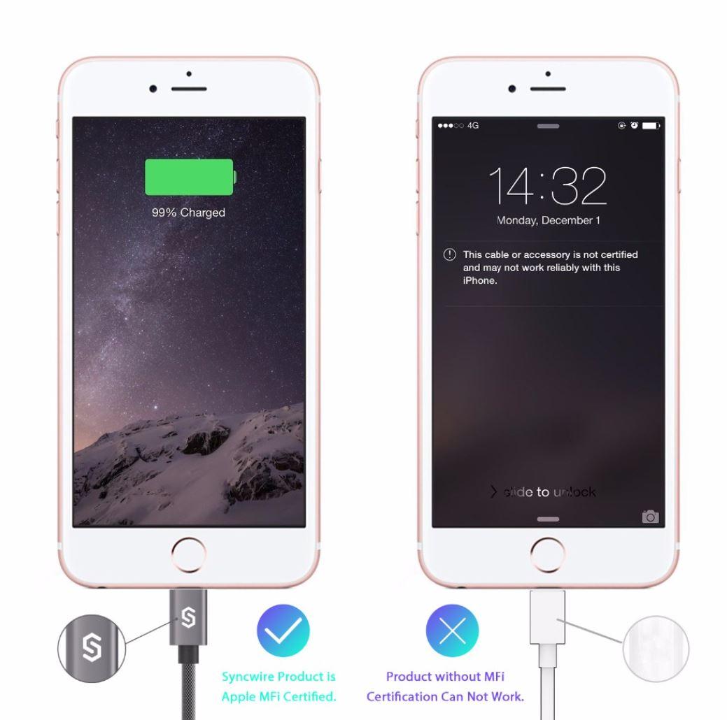 Syncwire iPhone/iPad latauskaapeli