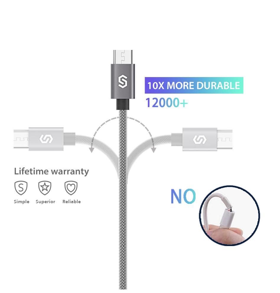 Syncwire Micro USB latauskaapeli (tuplapaketti)
